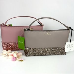 Kate Spade Ramey Greta Court Glitter Crossbody Bag
